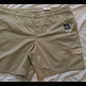 NWT St Johns Bay Shorts 24W Easy Fit Khaki beige